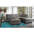 Maier Charcoal Sectional Living Room Group