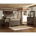 Juararo Dark Brown Bedroom Set