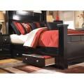 Shay Almost Black Queen/King Under Bed Storage