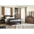 Windlore Dark Brown Bedroom Set
