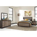 Harlinton Warm Gray/Charcoal Bedroom Set