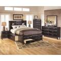Kira Almost Black Bedroom Set