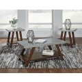 Bellenteen Brown/Silver Finish Occasional Table Set (Includes 3)