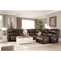 Hallstrung Chocolate Sectional Living Room Group