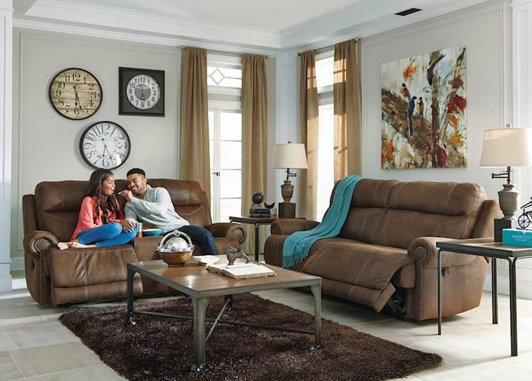 austere brown living room group  speedyfurniture